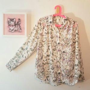 🌵 H&M Long-sleeve Floral Blouse